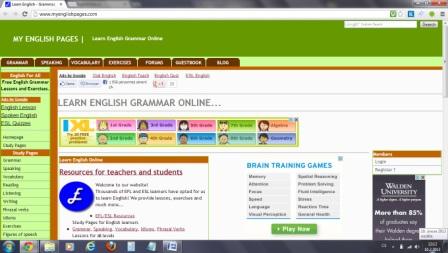 anglická gramatika, Angličtina cvičení